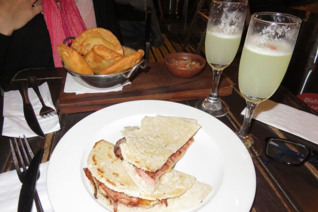 El Barista sanduiche empanada