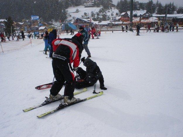 queda esqui bariloche