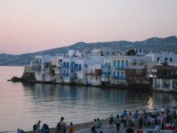 Mykonos, Grécia, vista Mykonos Town