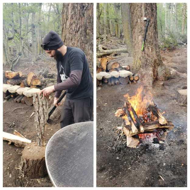 fogueira expedicao 4x4 ushuaia