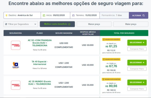 site seguros promo seguro viagem argentina