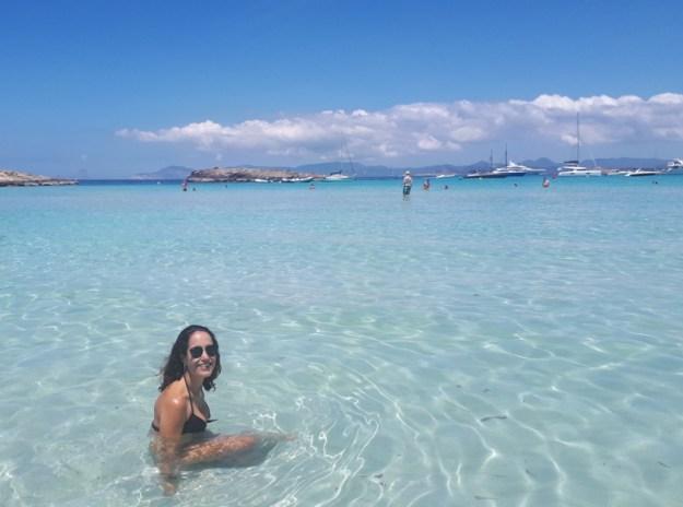 mulher praia formentera ilhas baleares