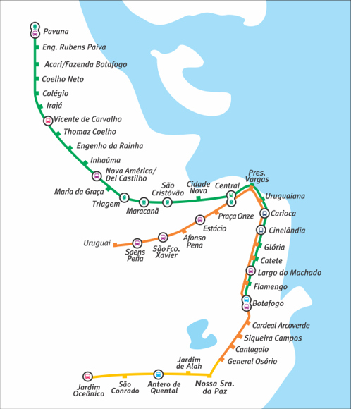 transportes no rio de janeiro linha metro