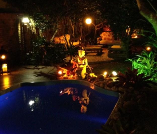 piscina noite casas para temporada em florianópolis
