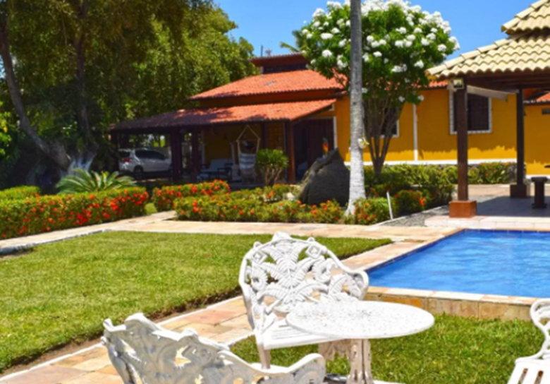 jardim piscina casa casas para temporada em porto de galinhas