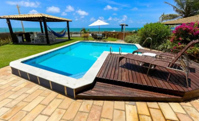 piscina frente mar serrambi casas para temporada em porto de galinhas