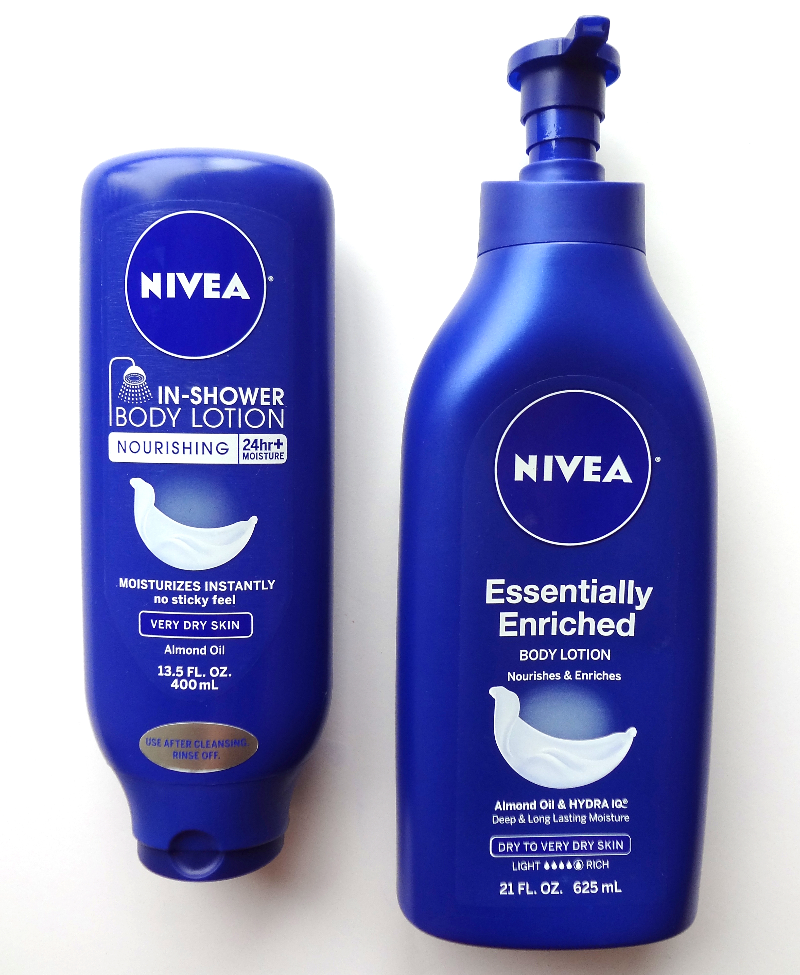 nivea skin care body products for dry skin