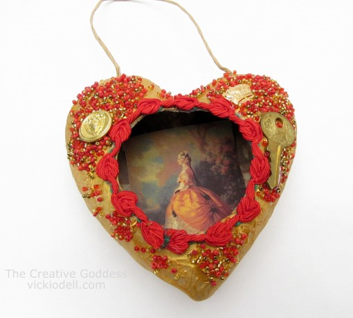 Valentine's Day Mixed Media Heart Decoration