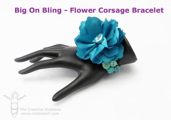 Big On Bling - Flower Corsage Bracelet