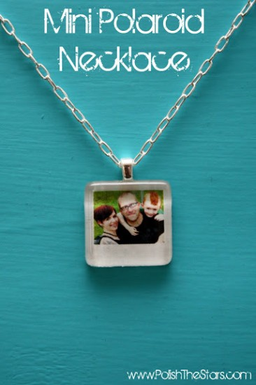 polaroid photo necklace pendant
