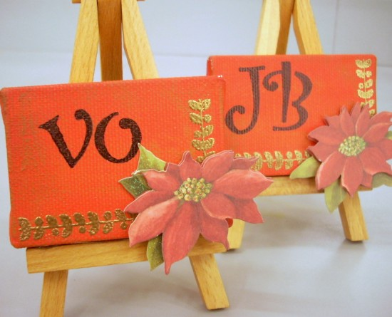 Mini Canvas Place Card Holders