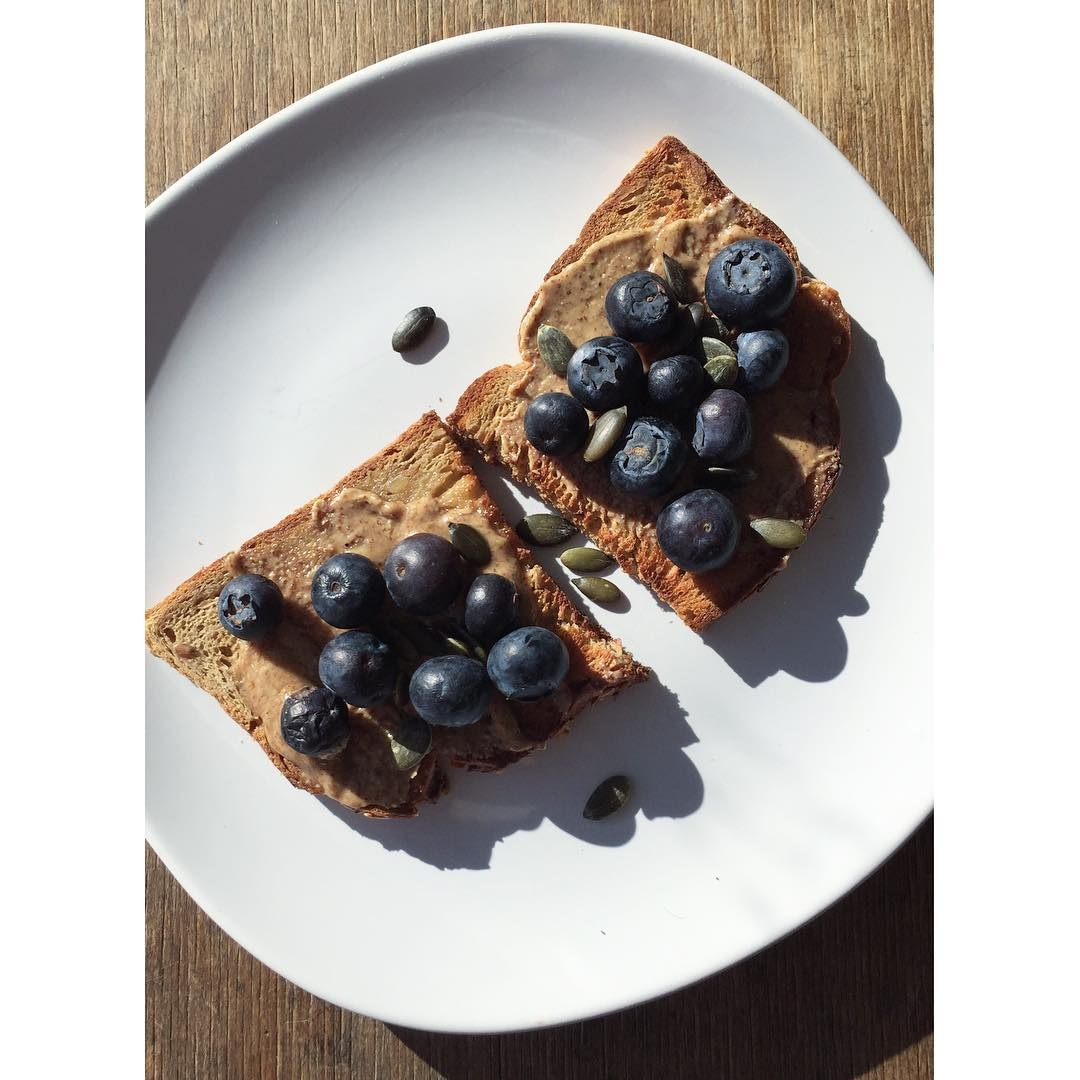 Morning  Breakkie of gluten and soy free bread withhellip
