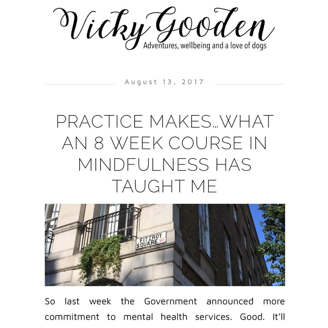 Blogged about the 8 week MBSR Mindfulness Based Stress Reductionhellip