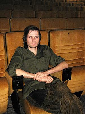 lovebytes Richard Lippok after his performance 2002