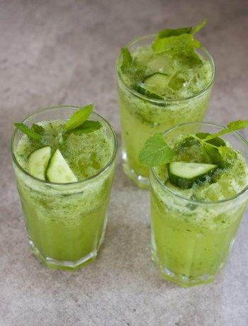 Vicky van Dijk | Gin cocktail met komkommer, munt en citroen