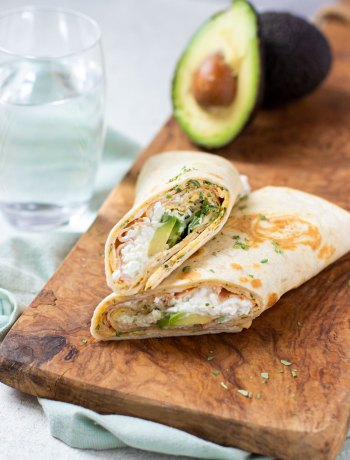 Wrap met ei, cottage cheese & avocado