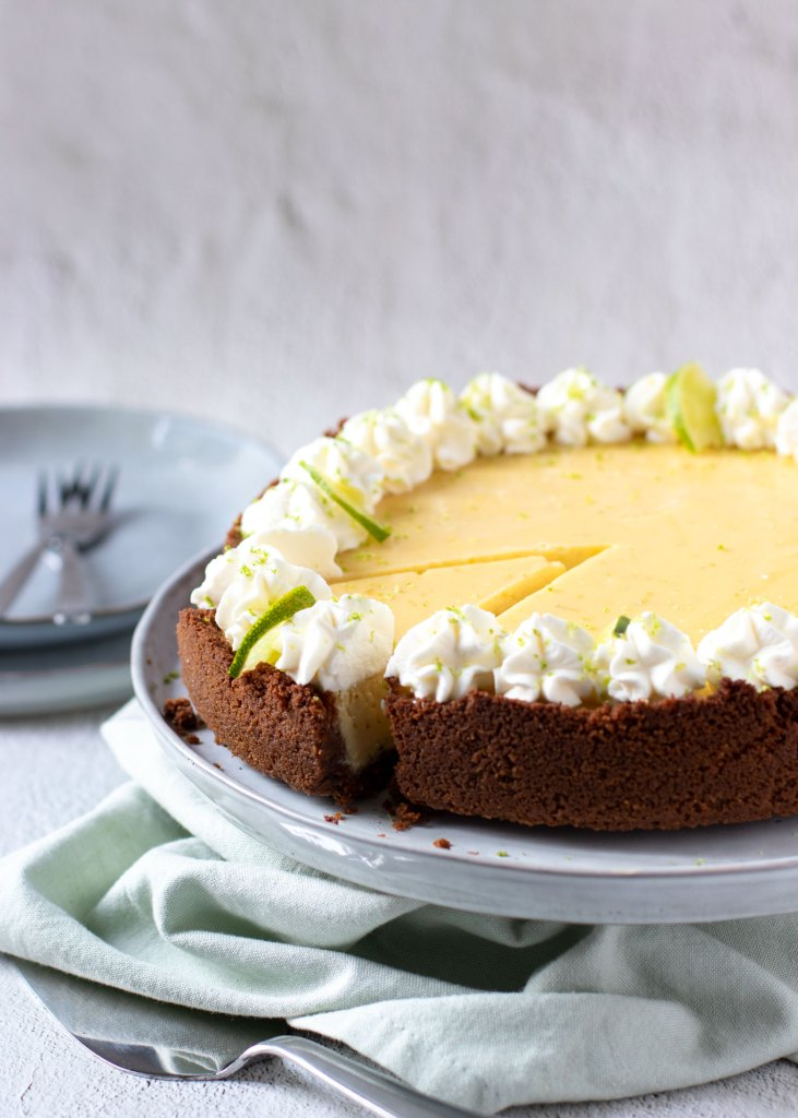 Key lime pie met slagroom