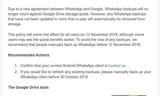 Important Announcement from WhatsApp & Google
