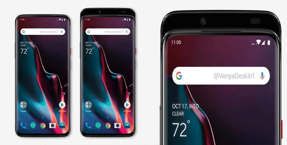 OnePlus 7 Renders based on Leaked Image, goes on with Slider Design