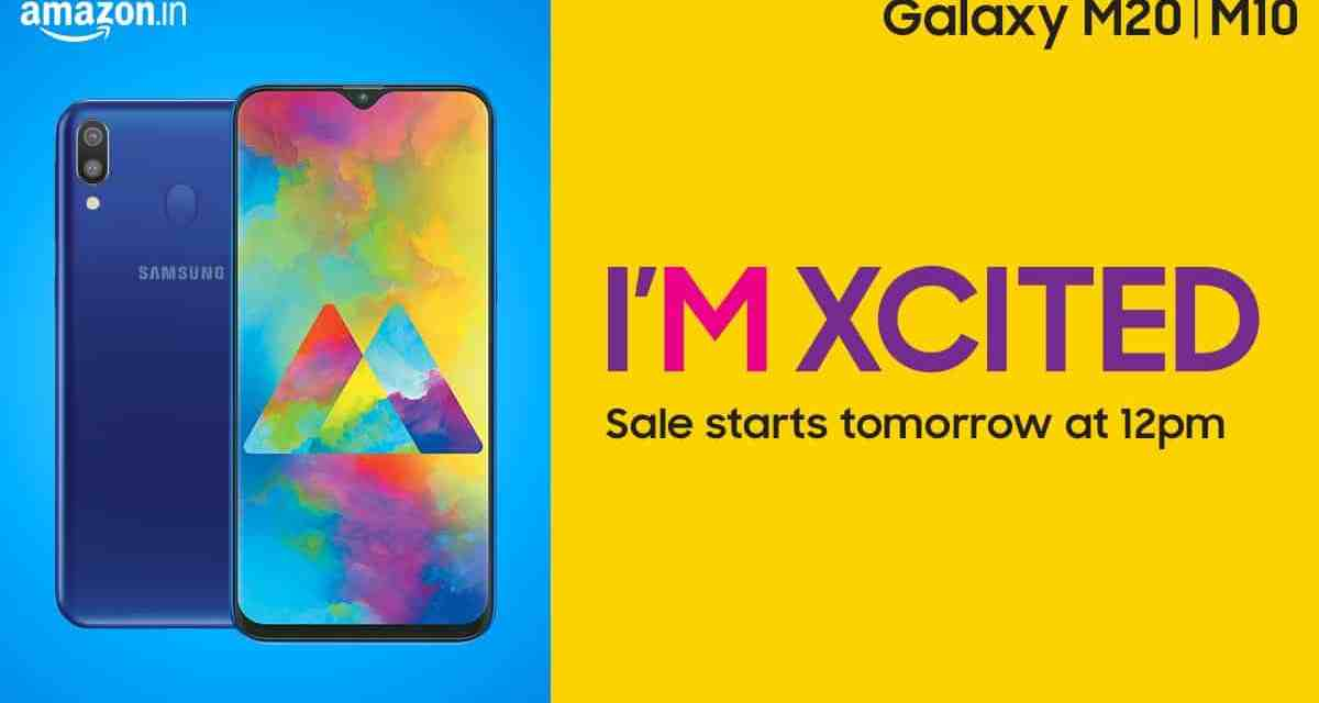 Samsung Galaxy M10 & M20 Smartphones sale goes live in Amazon India
