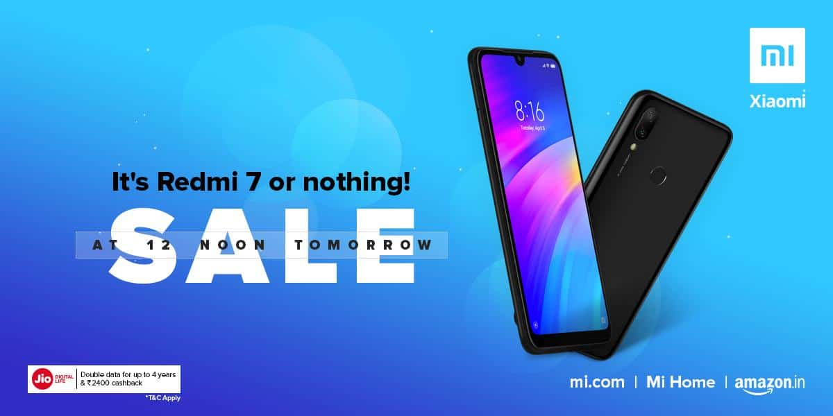 Redmi 7 sale starts for first time ever via Amazon at 12 noon