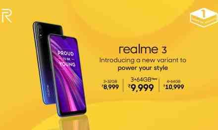 Realme 3: New storage variant introduced 3GB + 64GB