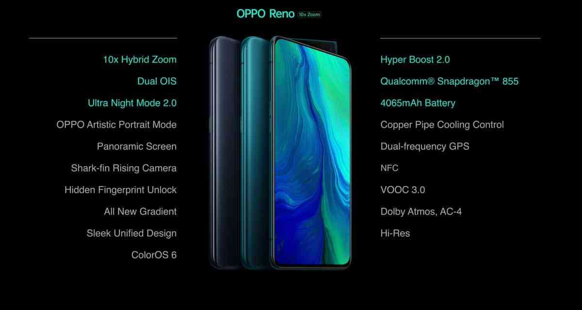 Oppo Reno 10x Zoom launched in India: Official price & specification