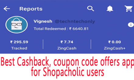 Zingoy best cashback, coupon code offers app for shopacholic users