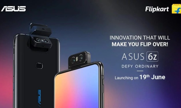 ASUS 6Z World's First Flip camera smartphone launching in India on 19th June