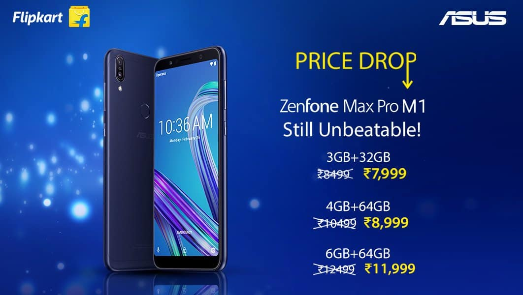 ASUS Zenfone Max Pro M1 gets permanent price drop