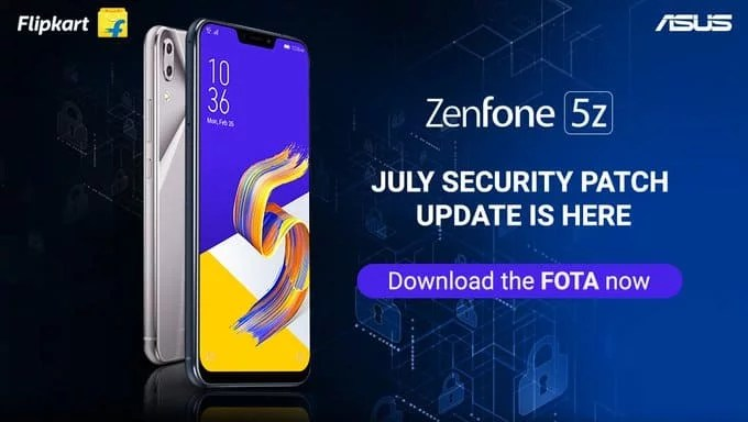ASUS Zenfone 5Z update brings latest July month security patch
