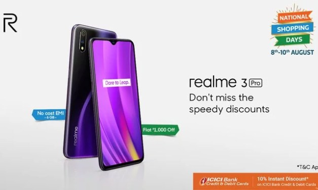 Realme 3 Pro price drop to Rs. 12,999 at Flipkart National Shopping sale