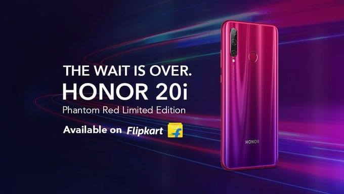 Honor 20i Phantom Red color edition announced in India