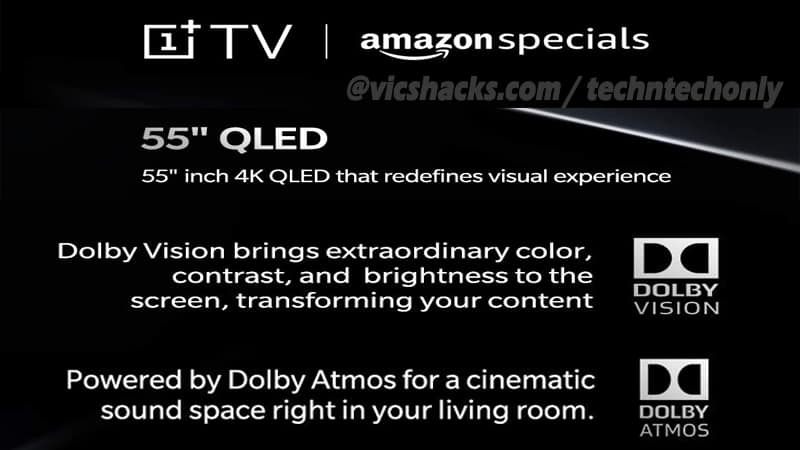 OnePlus TV amazon page goes live: Confirms 55-inch 4K QLED Display, DOLBY VISION & DOLBY ATMOS