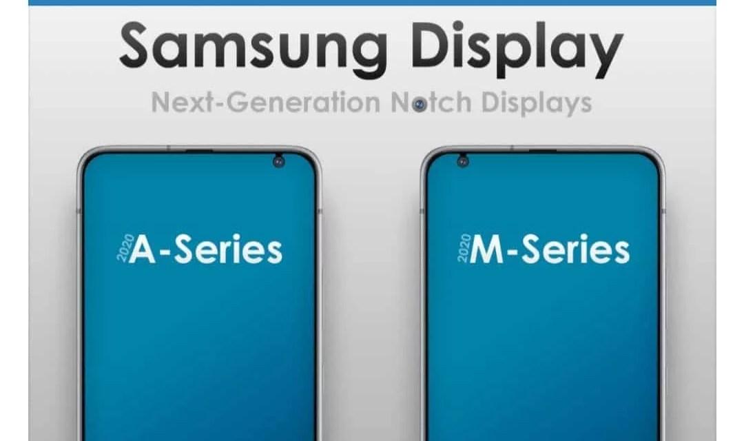 Samsung Galaxy A & Galaxy M series Display design on 2020 got revealed