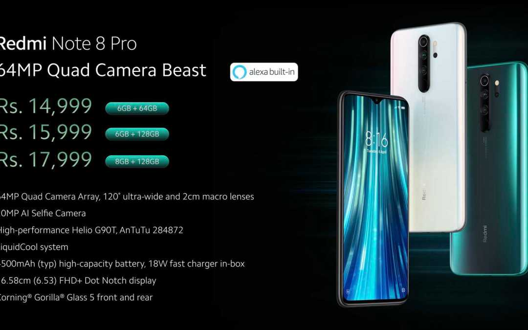 Redmi Note 8 Pro & Note 8 launched: Full Specs, Price