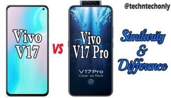 Vivo V17 vs Vivo V17 Pro