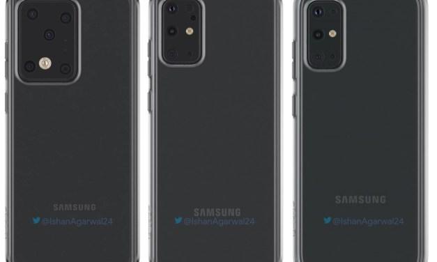 Samsung Galaxy S20, S20 plus, S20 Ultra phone case renders