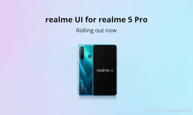 Realme 5 Pro mobile Realme UI update rolling out