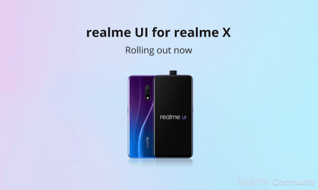 Realme X realme UI update started rolling out – Android 10 Update