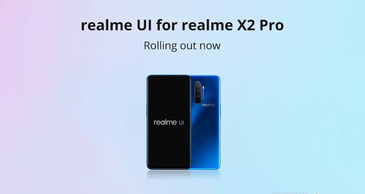 Realme X2 Pro Realme UI update started to rollout