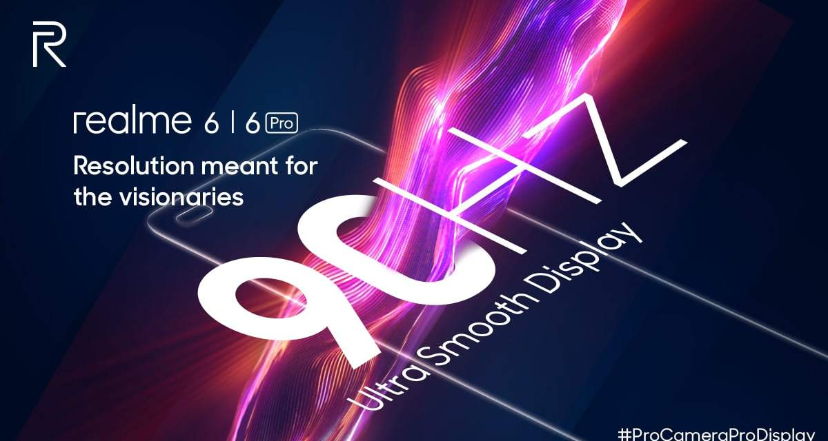 Realme 6 & Realme 6 Pro features with 90Hz LCD Display & 30W Fast Charging