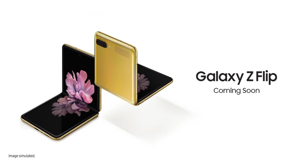 Samsung Galaxy Z Flip Mirror Gold color First Sale from 20th March, 11AM