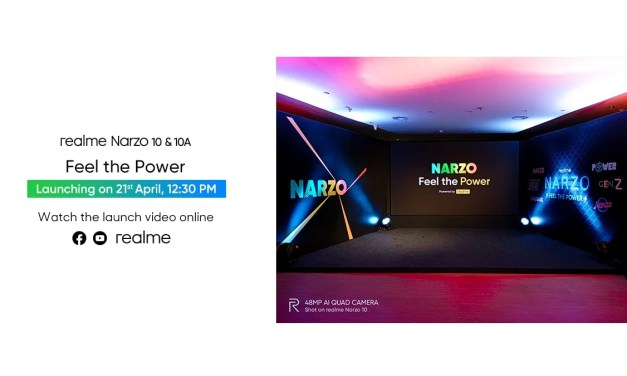Realme Narzo 10 & Narzo 10a launch event on 21st April