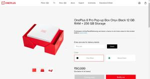 oneplus 8 pro pop up box price