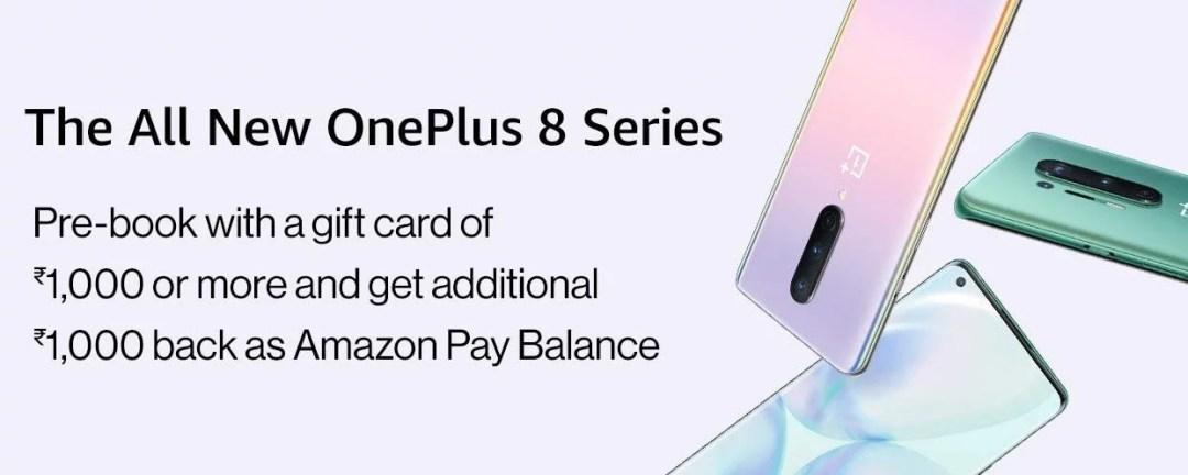 oneplus 8 series amazon prebooking
