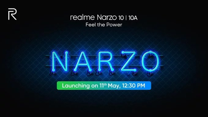 Realme Narzo 10 & Narzo 10a launching on 11th May in India
