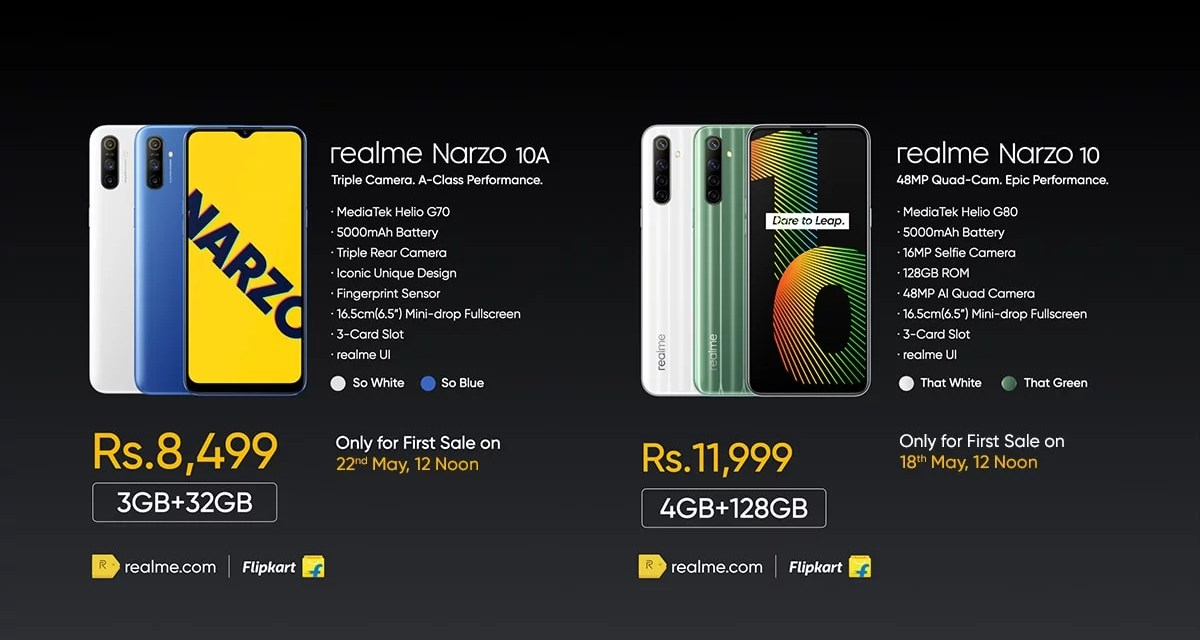 Realme Narzo Series launched – Here its Price details
