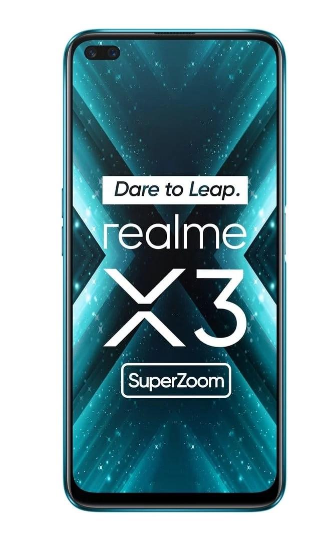 Realme x3 super zoom display size