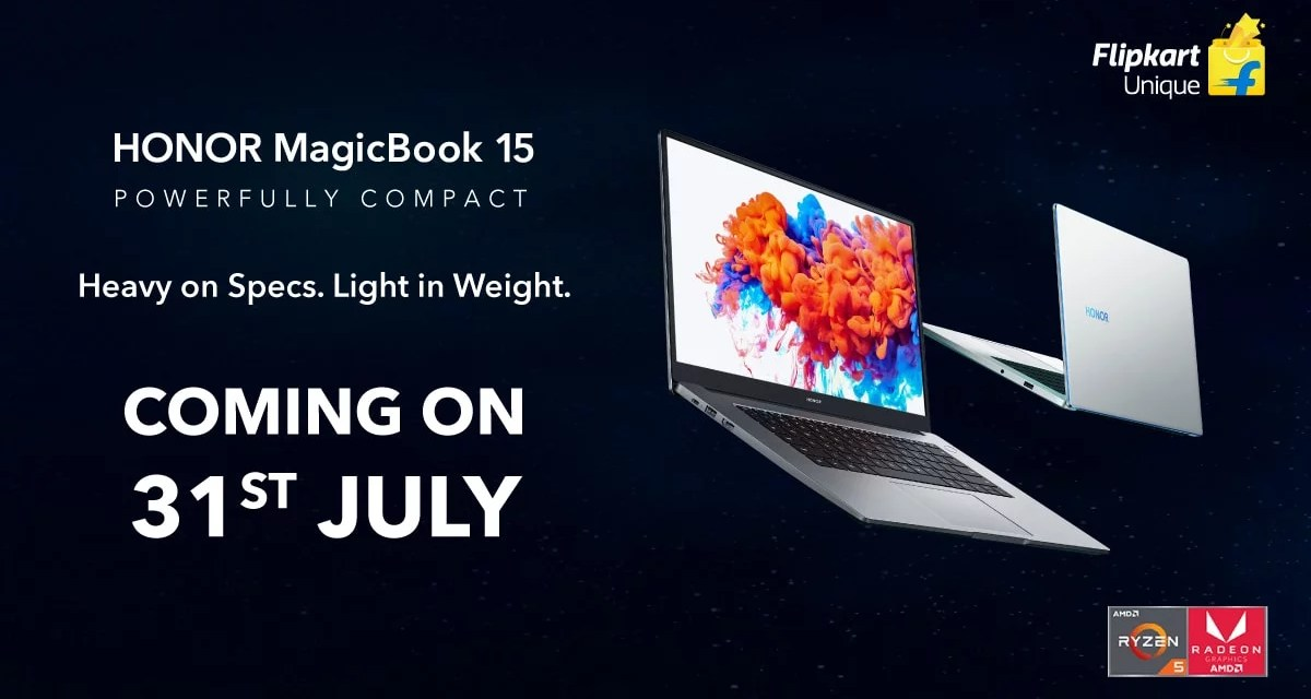 Honor MagicBook 15 Laptop launching in India on 31st July – Here its Specs & Features